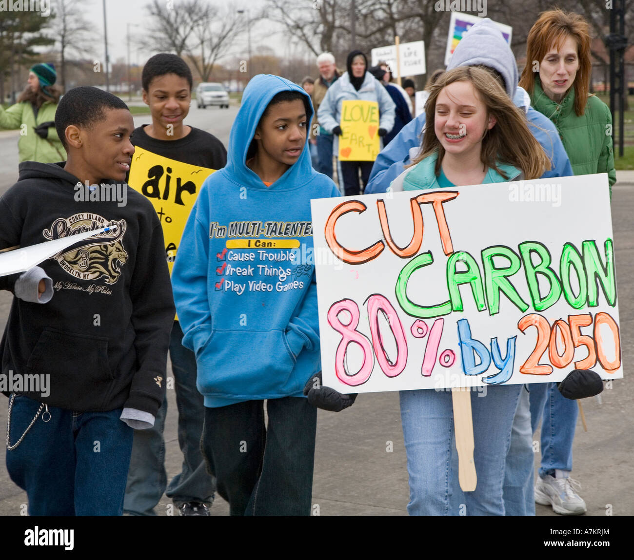 Global Warming Protest - Stock Image