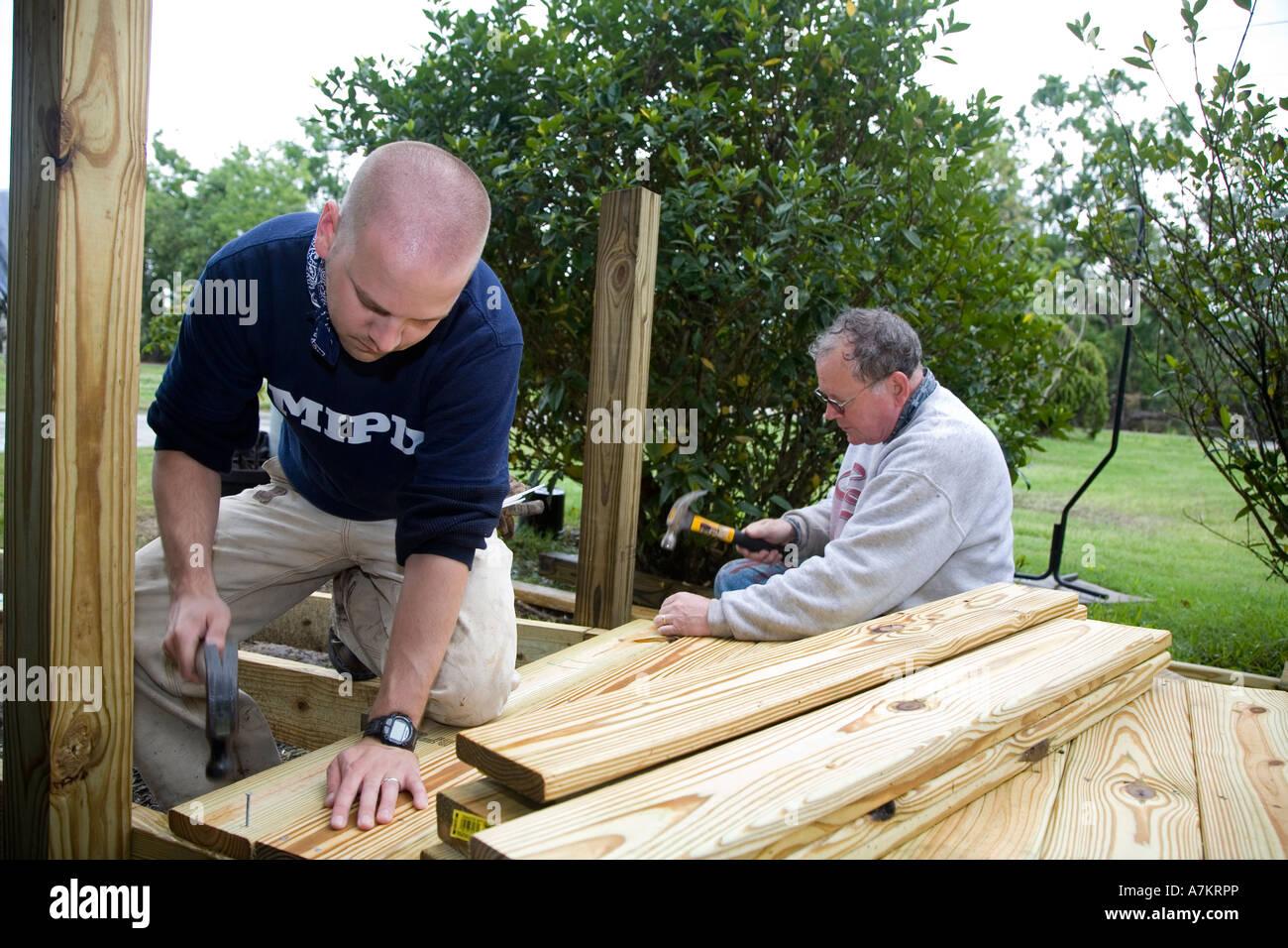 Volunteers Build Wheelchair Ramp