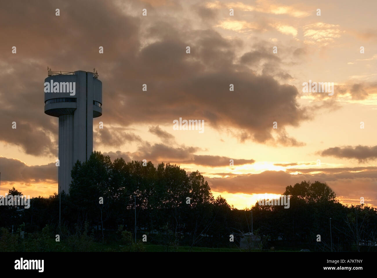 The tower of the Daresbury laboratory of the CCLRC. The Rutherford Appleton Laboratory. Stock Photo