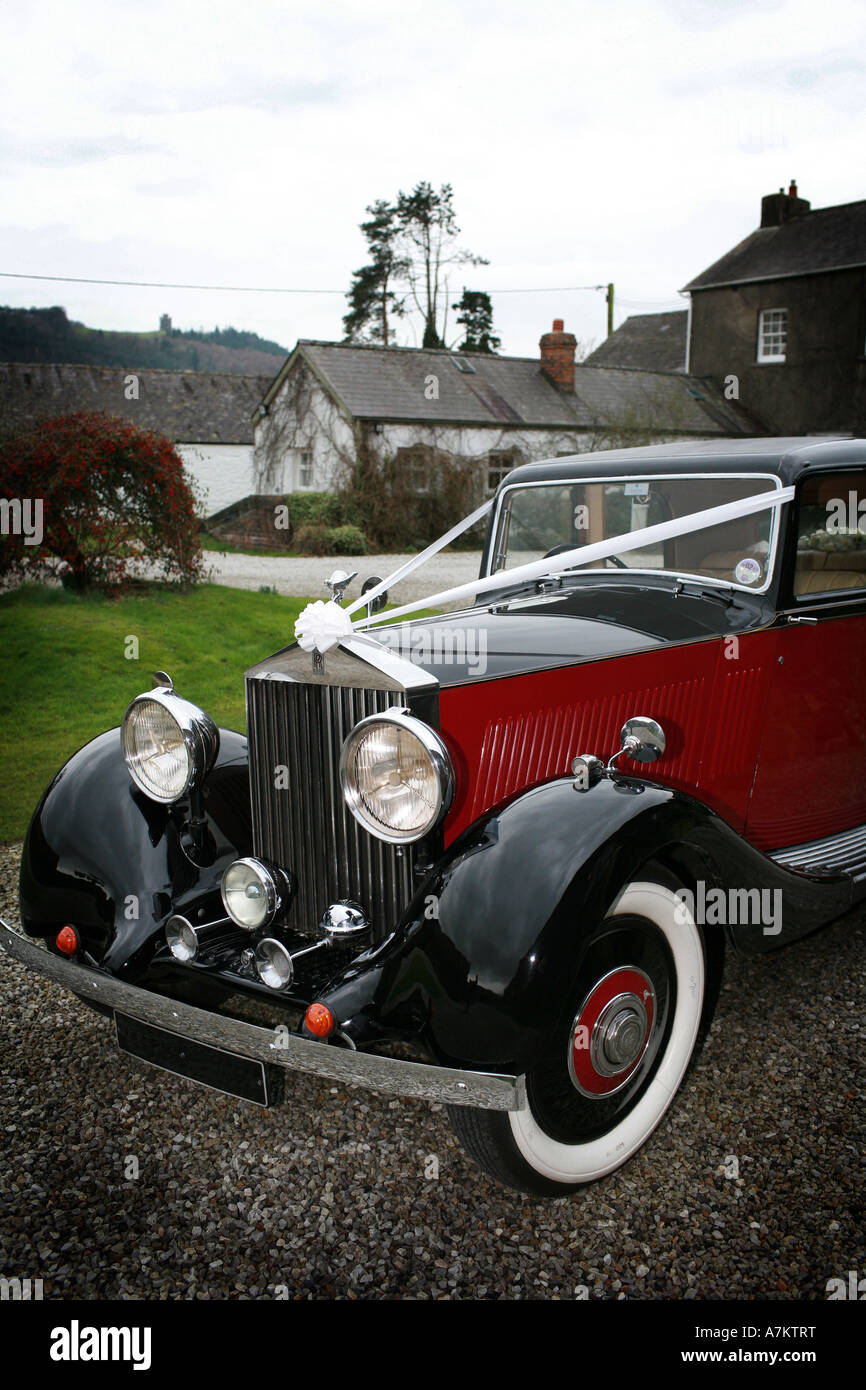 Vintage Rolls Royce Wedding Car Stock Photos Vintage Rolls Royce