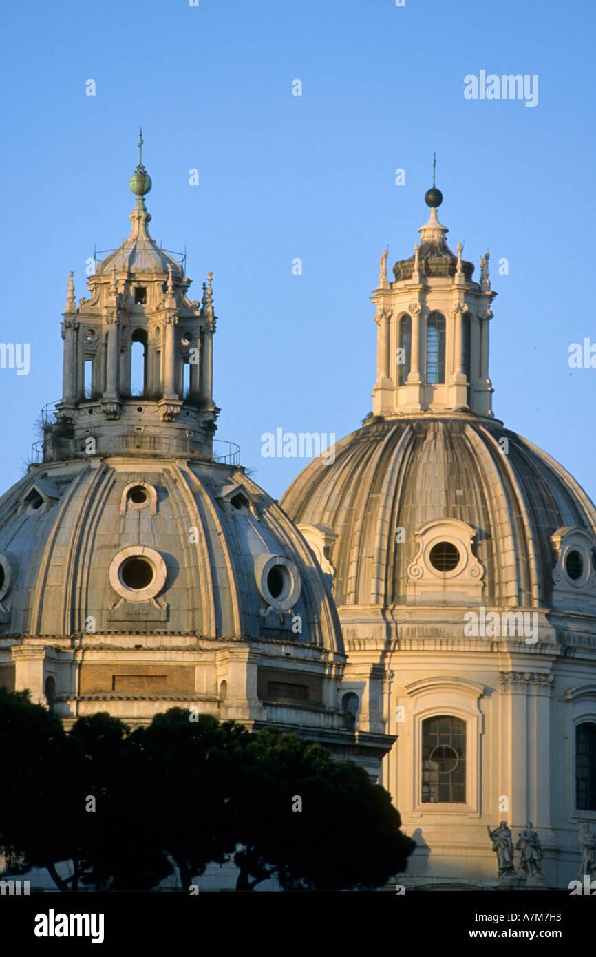 Italy Lazio Rome Foro Traiano cupolas - Stock Image