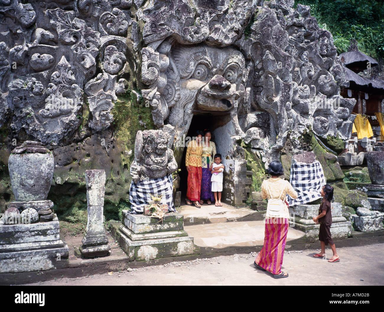 Indonesia Bali Goa Gajah Religion Balinese People In