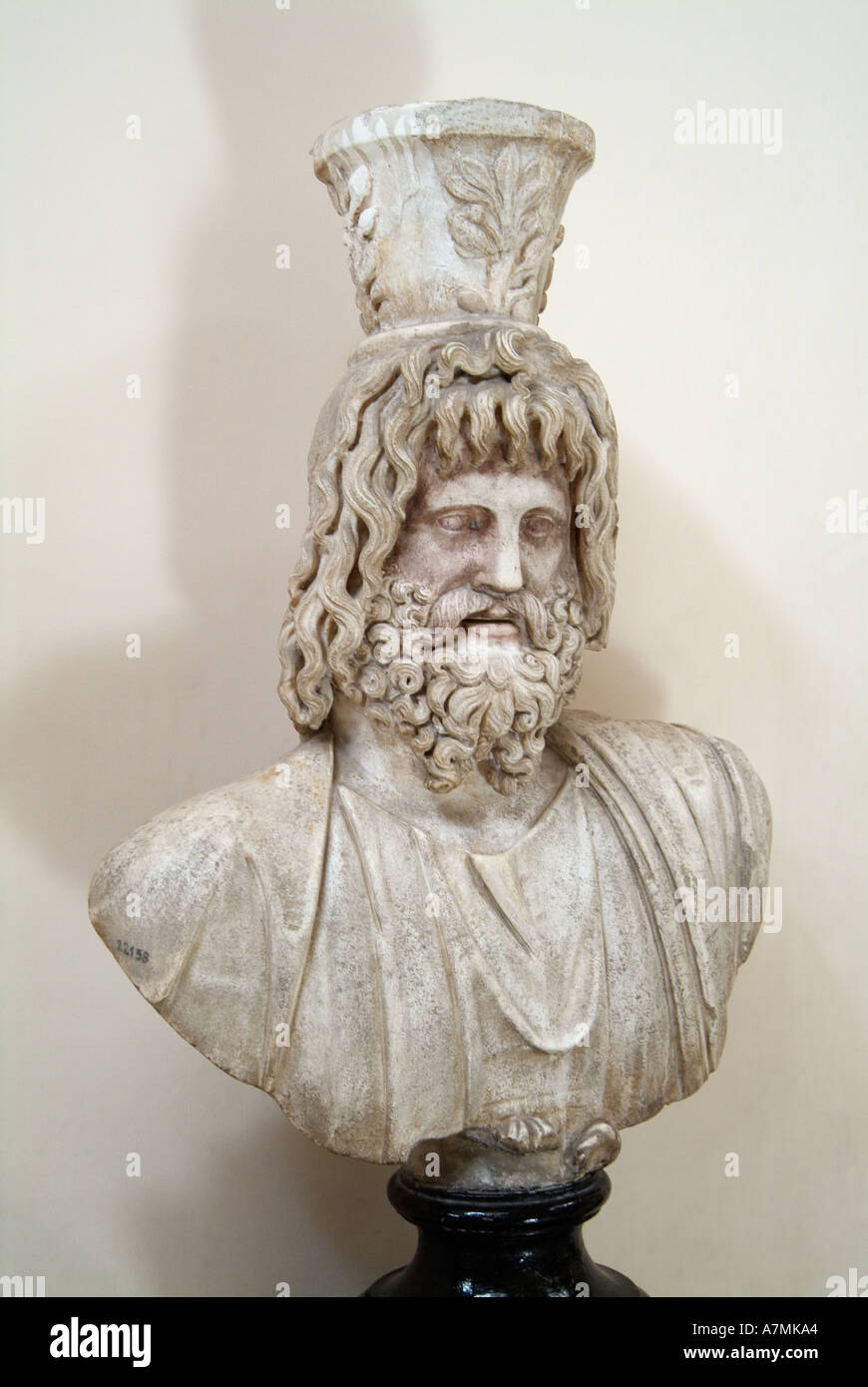 Bust of the god Serapis, Greco-Roman Museum, Alexandria, Egypt - Stock Image