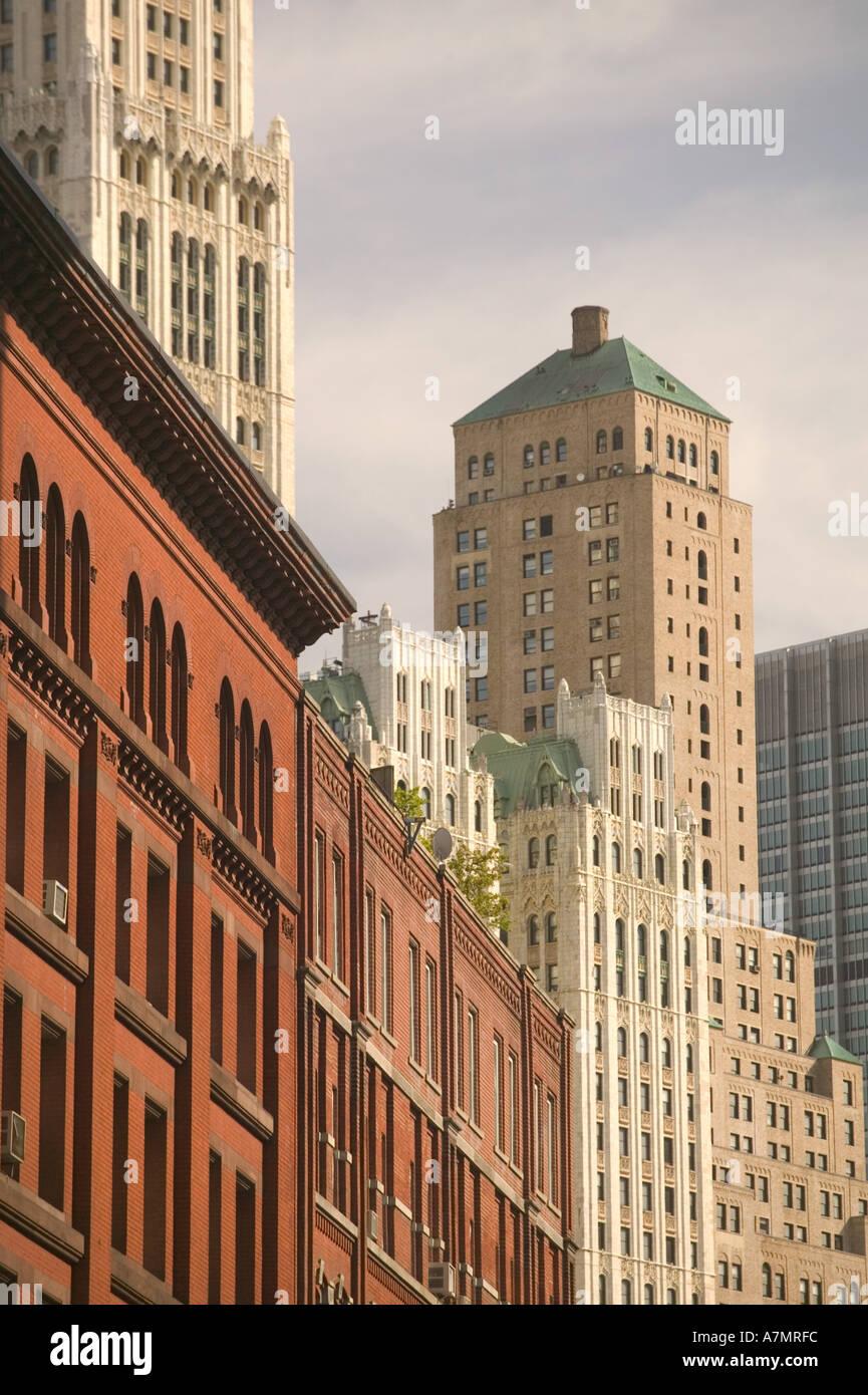 USA, New York, New York City, Manhattan: Tribeca, Loft Building Details/ Hudson Street Stock Photo