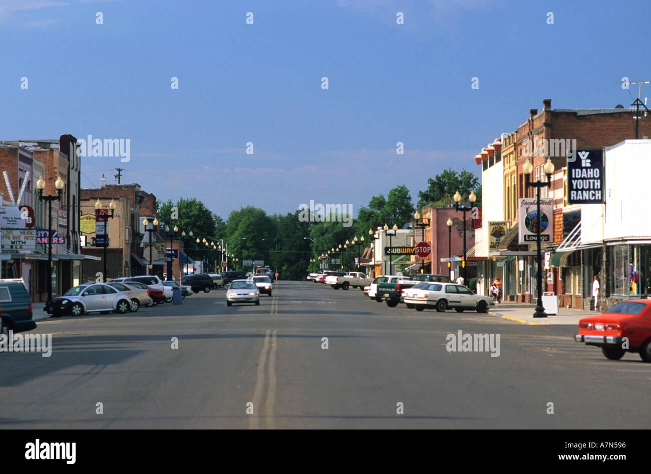 Downtown Payette Idaho downtown small town payette idaho america main street village Stock Photo
