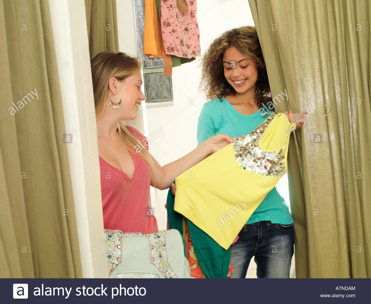 Girls In Fitting Room