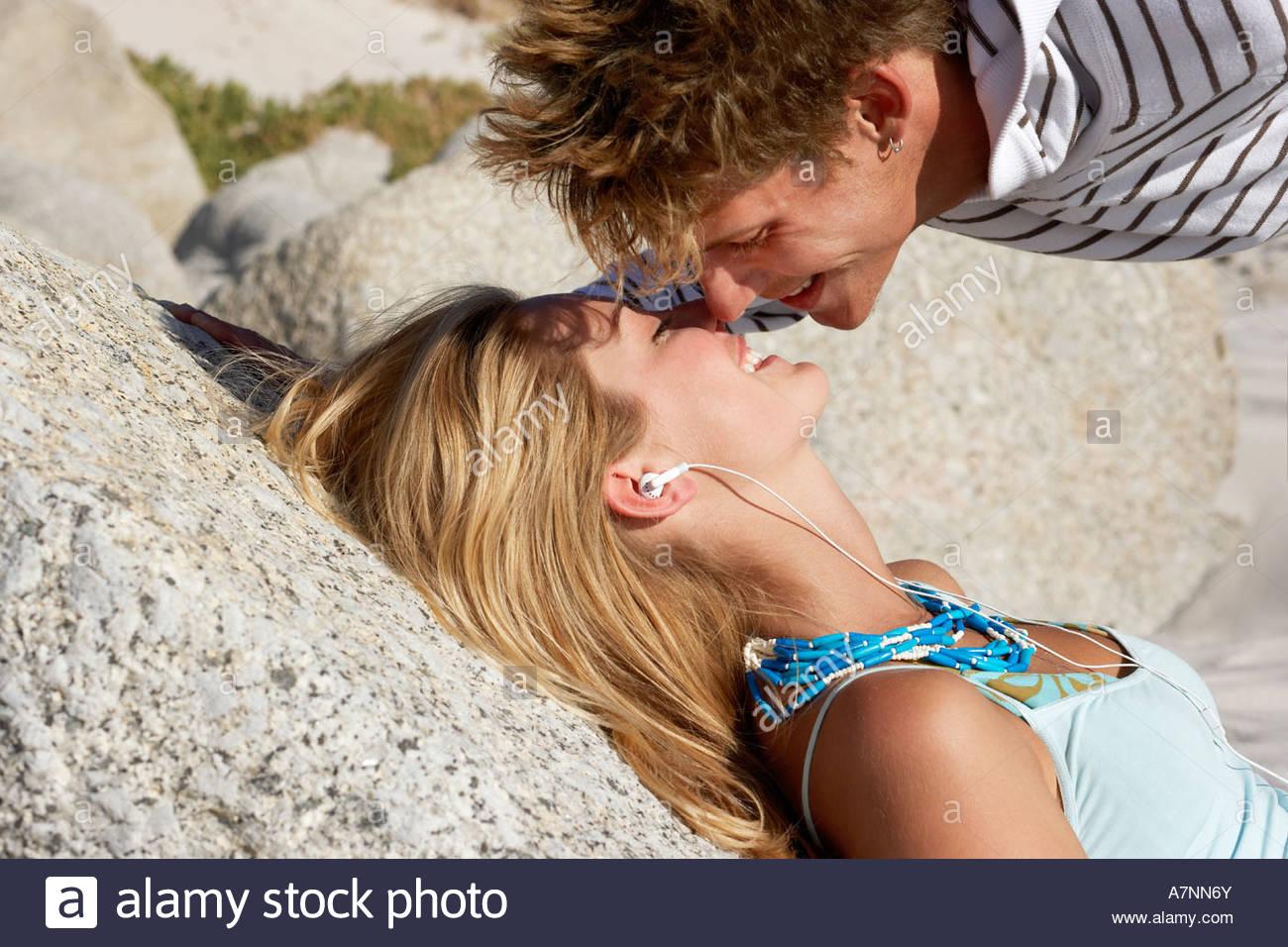 Teenage Boy Kissing Teenage Girl Stock Photos  Teenage -5718