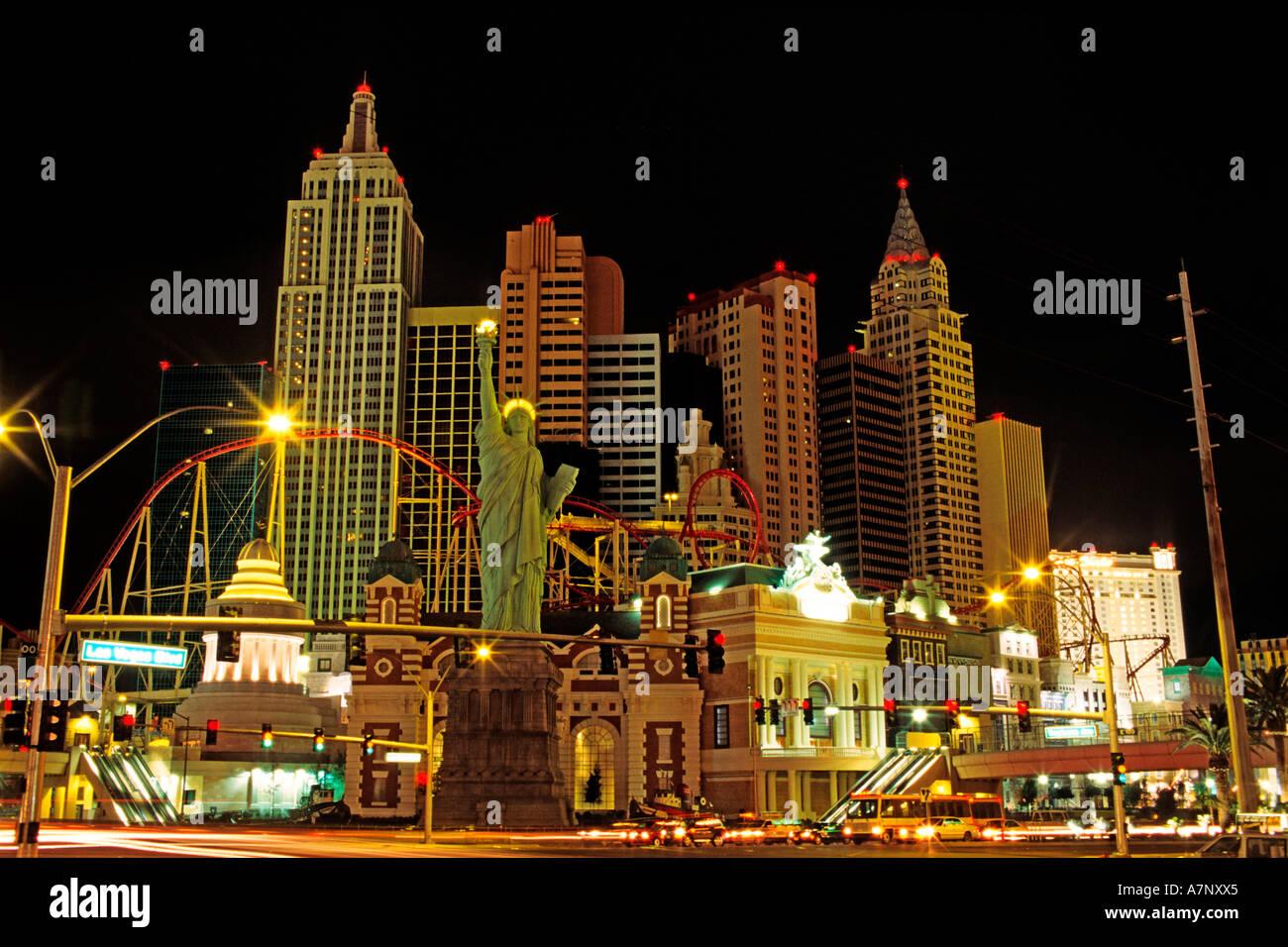 United States, Nevada, Las Vegas city, New York-New York Hotel Casino, inaugurated the January 3rd of 1997 Stock Photo