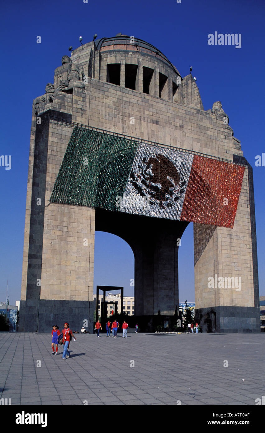 Mexico, Federal District, Mexico City, downdown, Republic Square, Monumento a la Revolucion - Stock Image