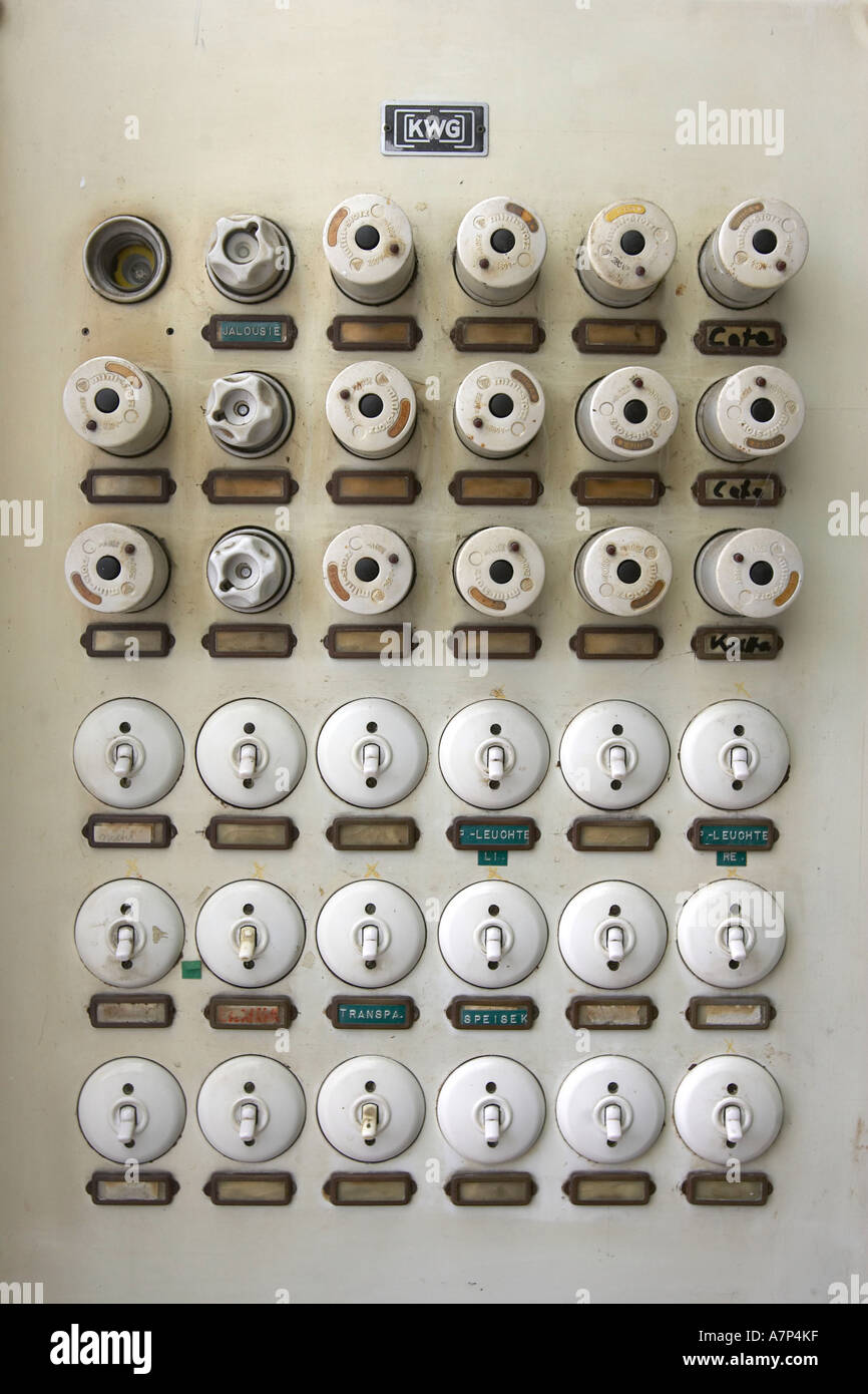 Old Fuse Box Stock Photos Images Alamy Outdated Deu Germany Image