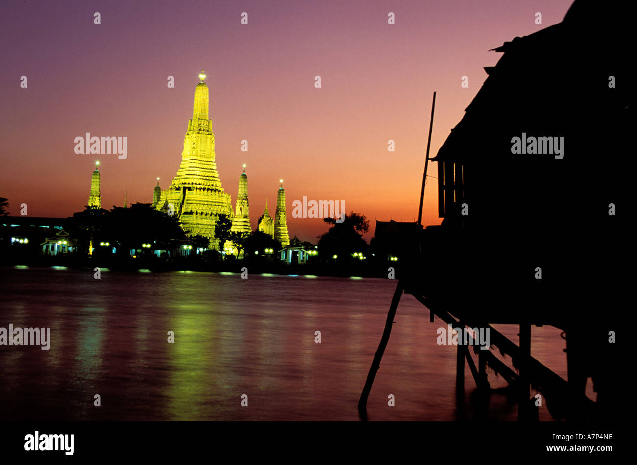 Thailand, Bangkok, Wat Arun better known as the Temple of the Dawn - Stock Image