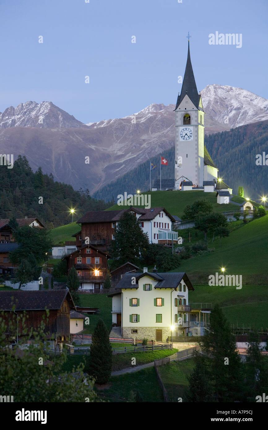 Schmitten, Graubunden, Switzerland Stock Photo
