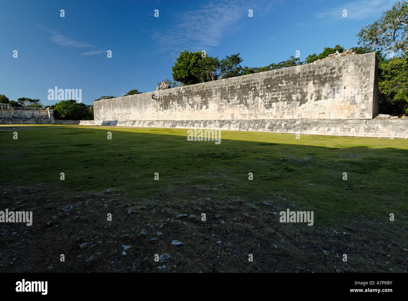 Juego de Pelota ball court Maya and Toltek archeological site Chichen Itza Yucatan Mexico - Stock Image