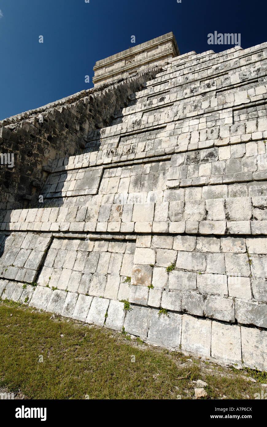 Kukulkan pyramid Maya and Toltec archeological site Chichen Itza Yucatan Mexico - Stock Image