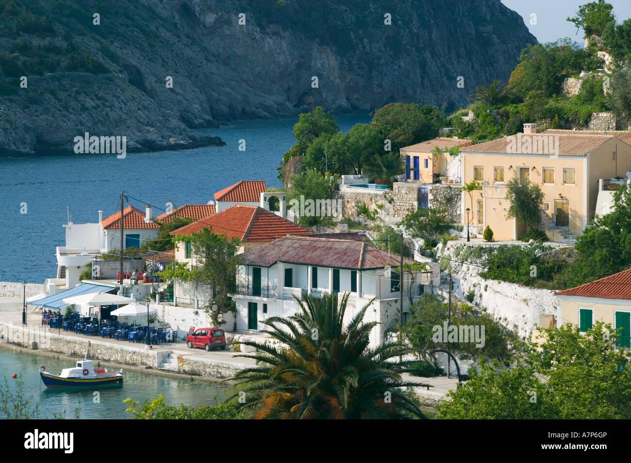 Assos, Kefalonia, Ionian Islands, Greece - Stock Image