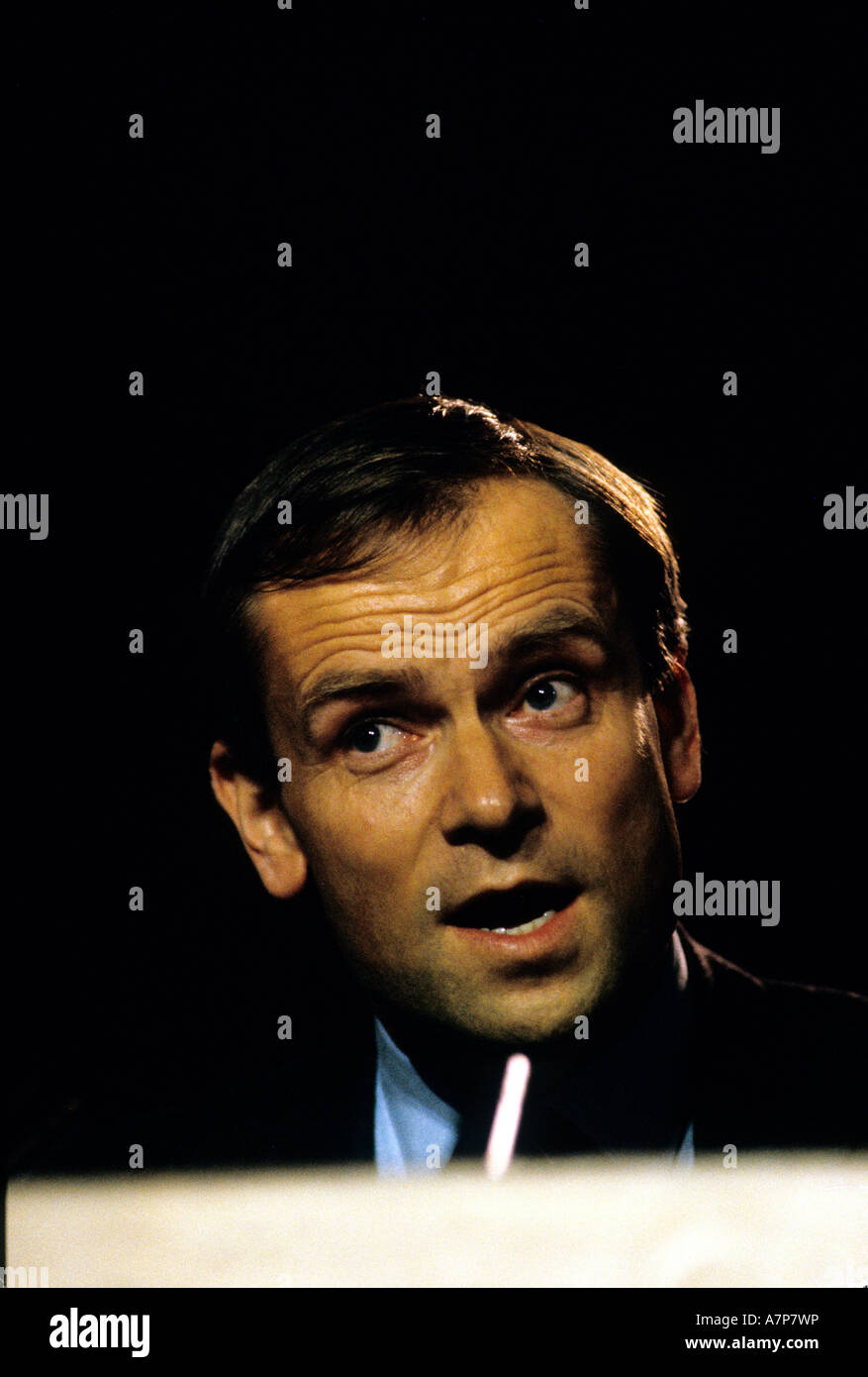 JEFFREY ARCHER TORY CONFERENCE ENGLAND 1985 - Stock Image