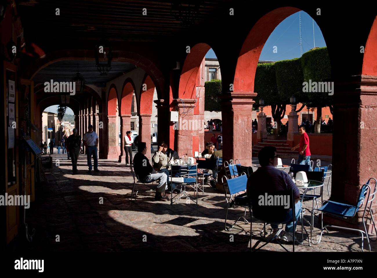 Jardin Principal, San Miguel de Allende, Guanajuato state, Mexico - Stock Image