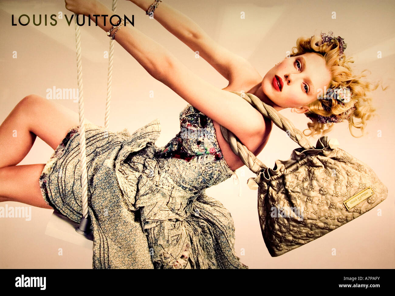 Tokyo Louis Vuitton Tokyo Fashion House Model Plate Sheet - Stock Image
