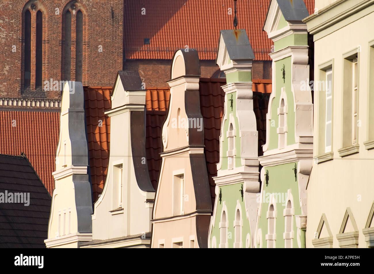 gables in Wismar Mecklenburg Pomerania - Stock Image