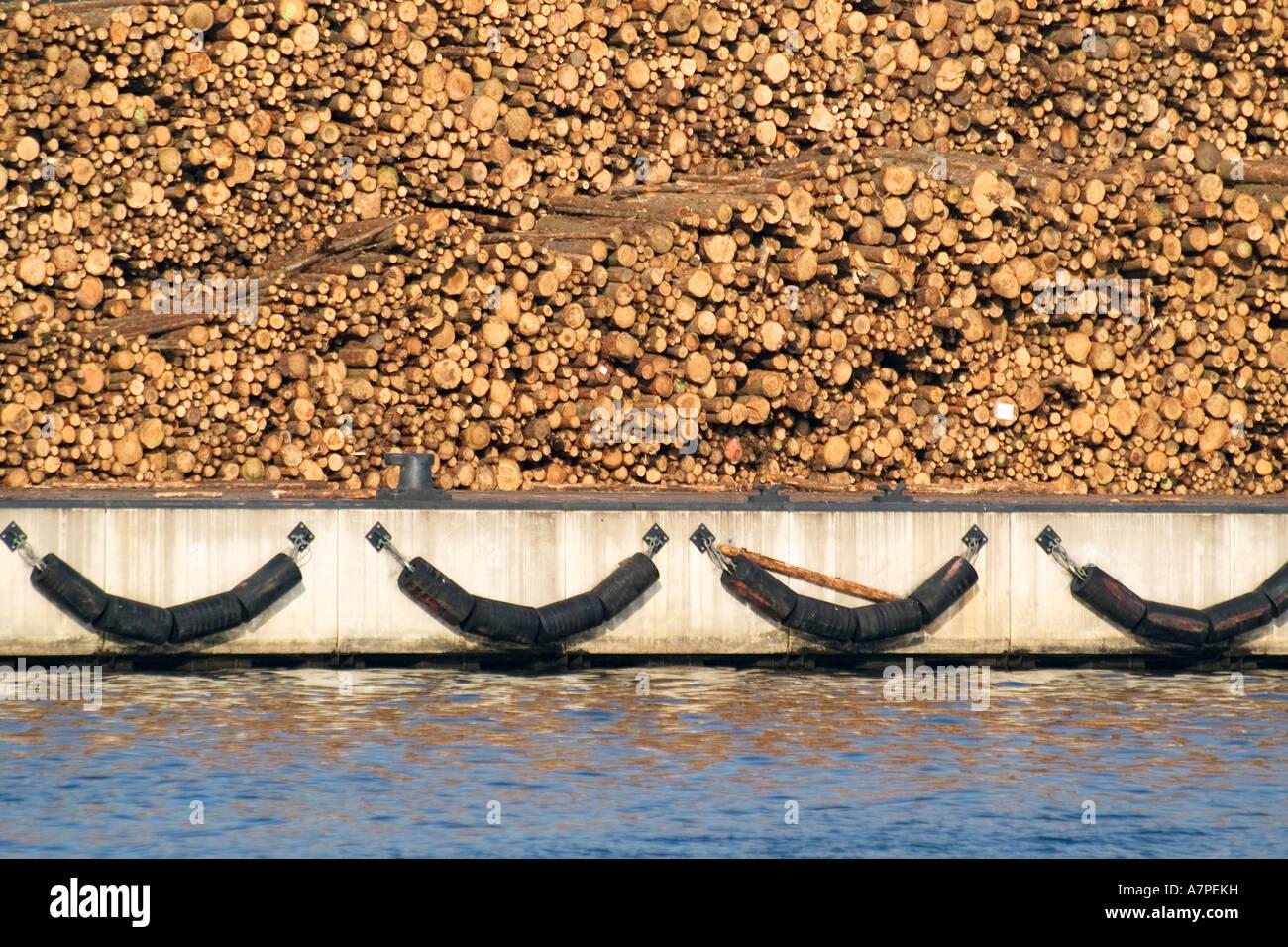 Wismar harbor 'Wood harbor' - Stock Image