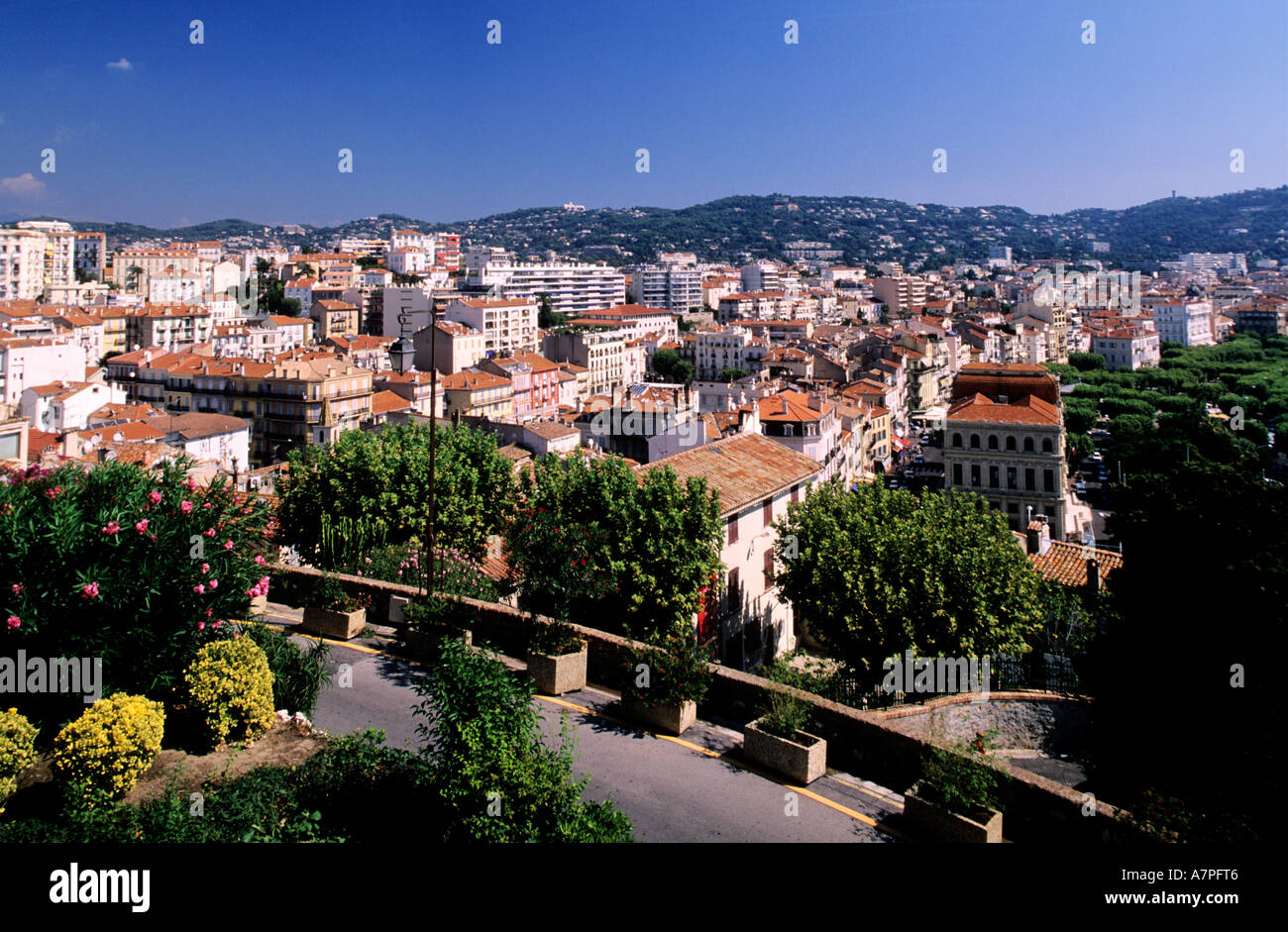 France, Alpes Maritimes, Cannes, view from the old town - Stock Image