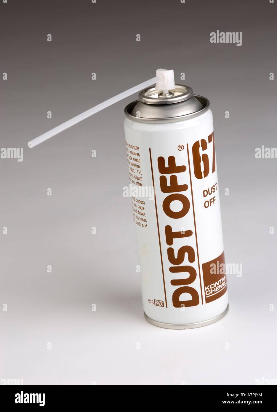 compressed air aerosol can - Stock Image