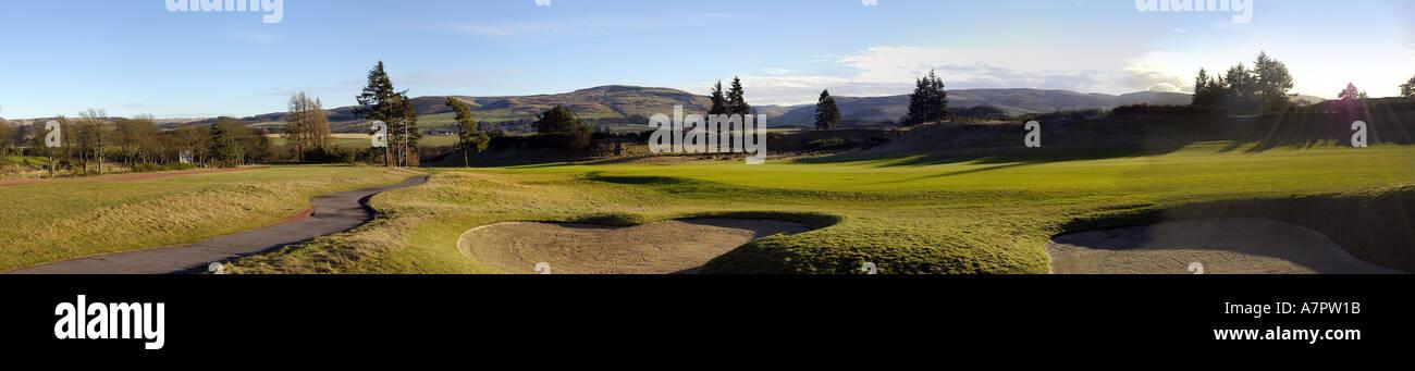 Gleneagles Hotel Perthshire Scotland UK The World Famous Golf  Course - Stock Image