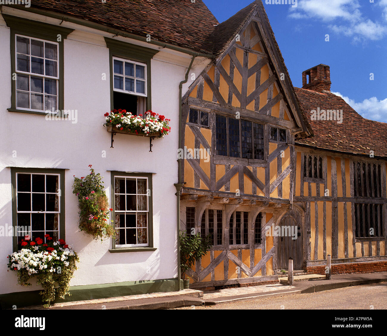 GB - SUFFOLK: Little Hall at Lavenham - Stock Image