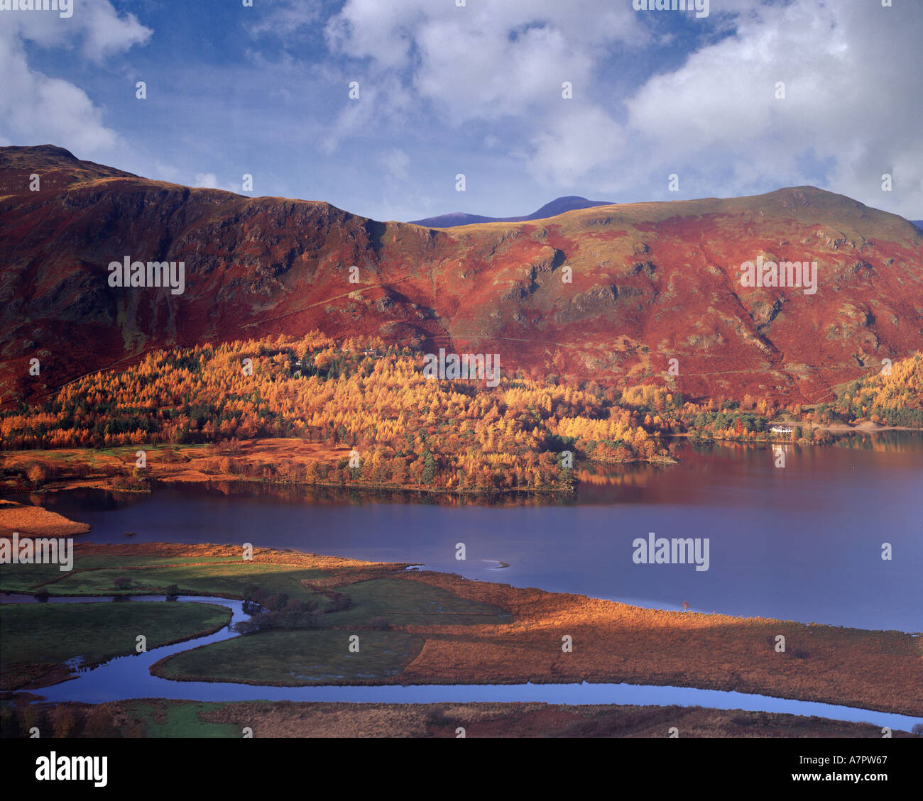GB - CUMBRIA:  Autumn at Derwentwater in the Lake District - Stock Image