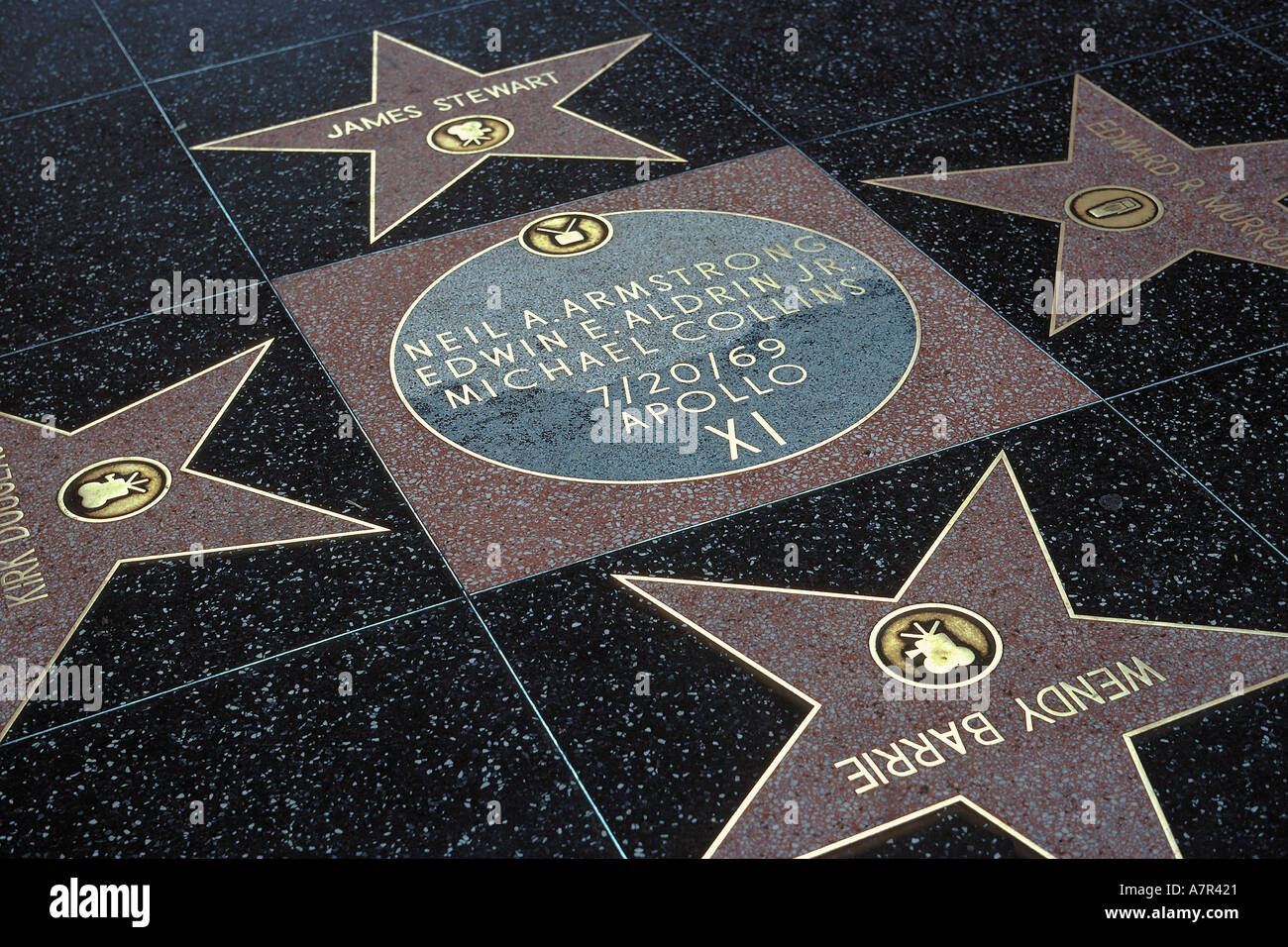 Stars commemorating the first moon landing by the Apollo ...