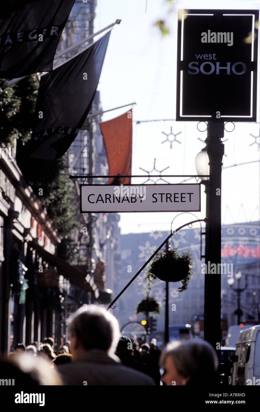 United Kingdom, London, Regent Street in the Carnaby district - Stock Image