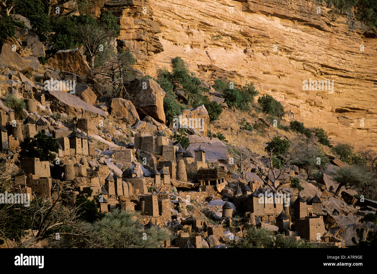 Mali, Dogon Country, village of Banani, one of the four districts composing the village - Stock Image