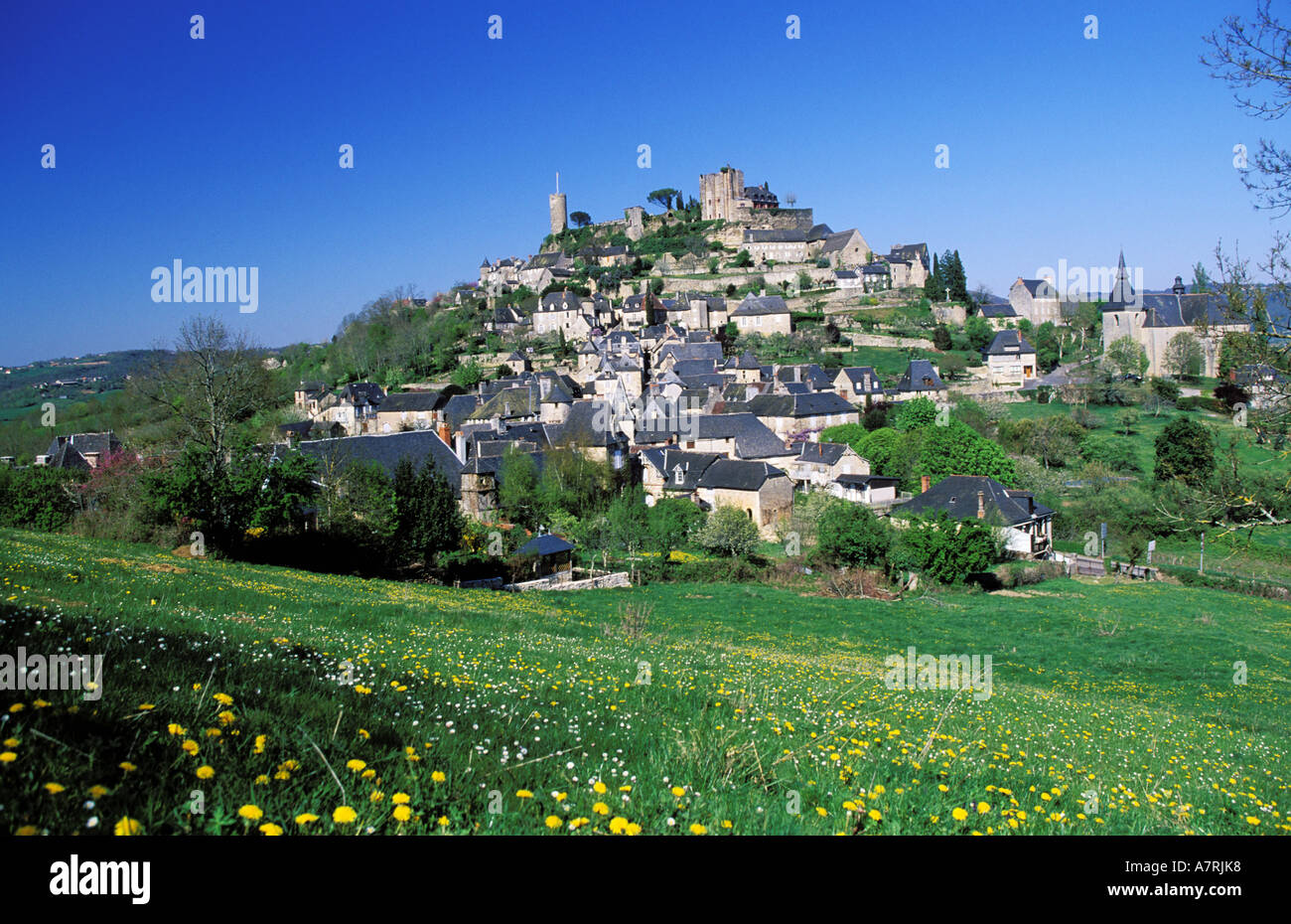 France, Correze, Turenne village - Stock Image