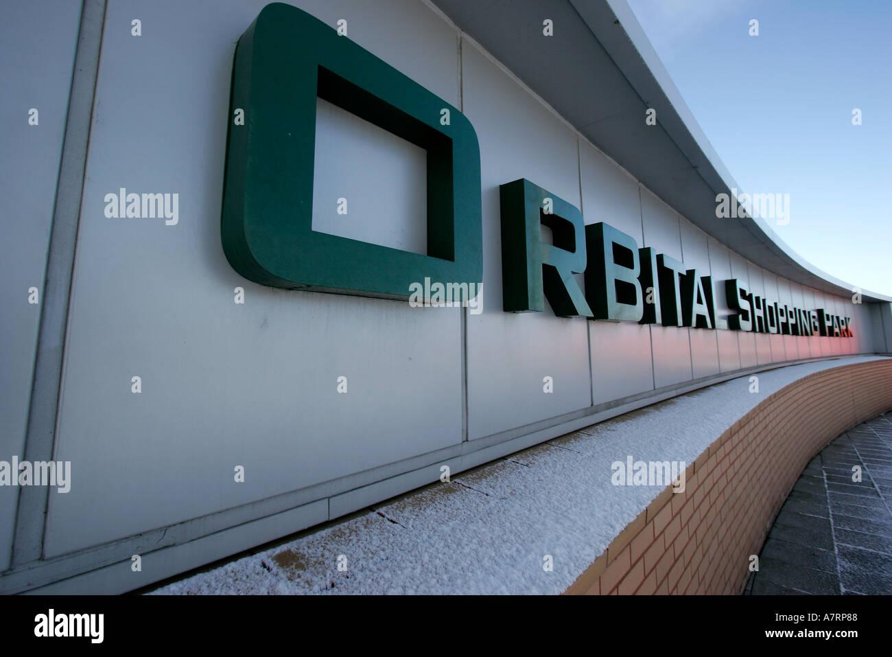 Advertisement for Orbital Shopping Park - Stock Image