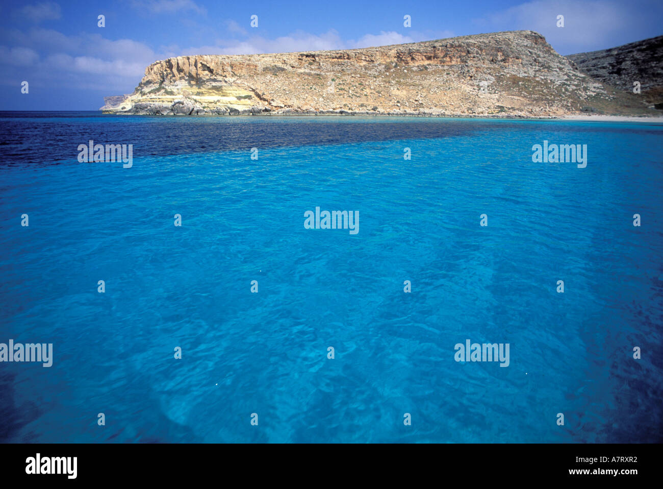 Italy Sicily Natural Reserve Of Lampedusa The Rabbits Beach Or