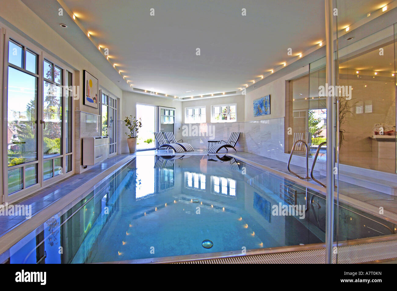 Swimming pool inside house Stock Photo: 11904488 - Alamy
