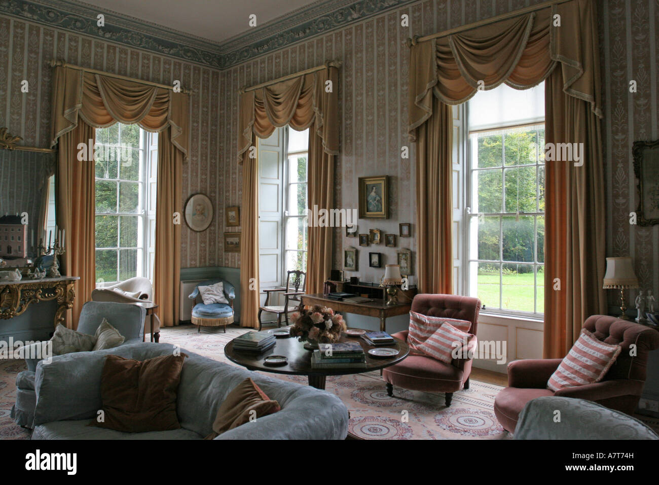 Interiors Of Room Ashford Castle Ireland Stock Photo