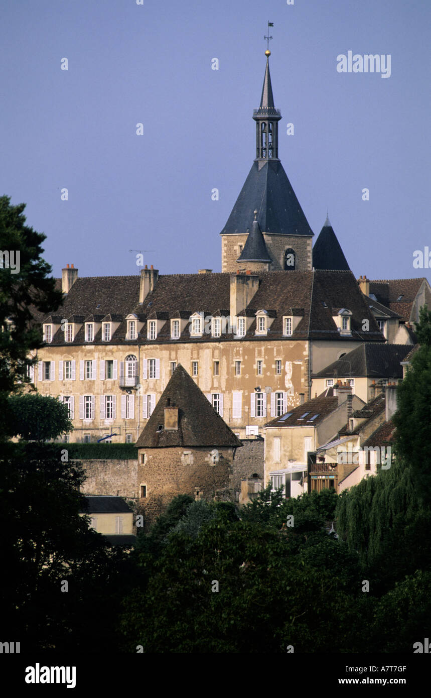 France, Yonne, Avallon and its clock tower - Stock Image