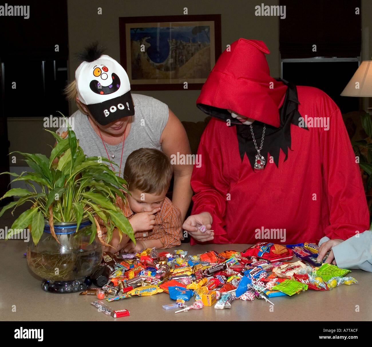 Halloween loot - Stock Image