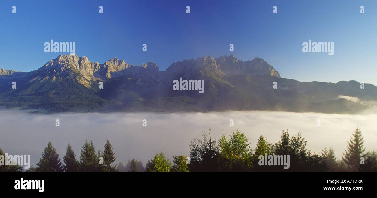 Clouds over valley, Tyrol, Austria Stock Photo