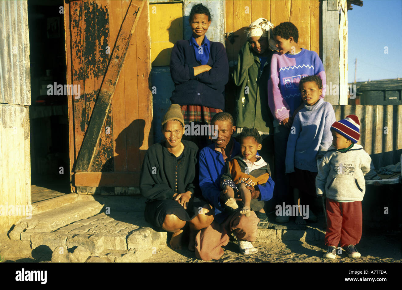 Local people from Luderitz Namibia south west Africa - Stock Image