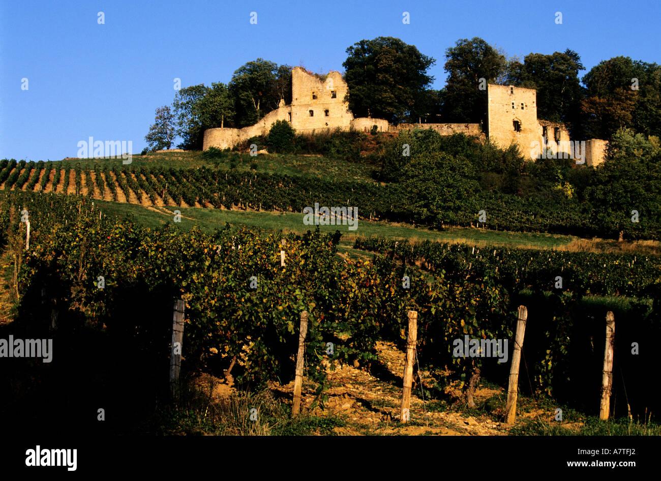 France Jura Arlay Castle Stock Photo Alamy