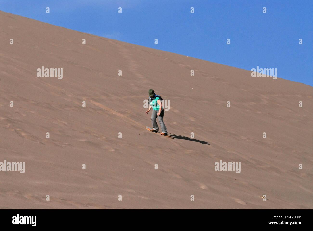 Sandboard  Valley de la luna Atacama desert Chile - Stock Image