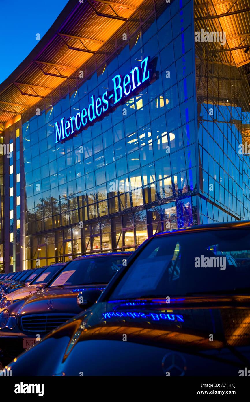 Mercedes Benz Dealership Salzufer Germany Berlin Deutschland Stock Photo