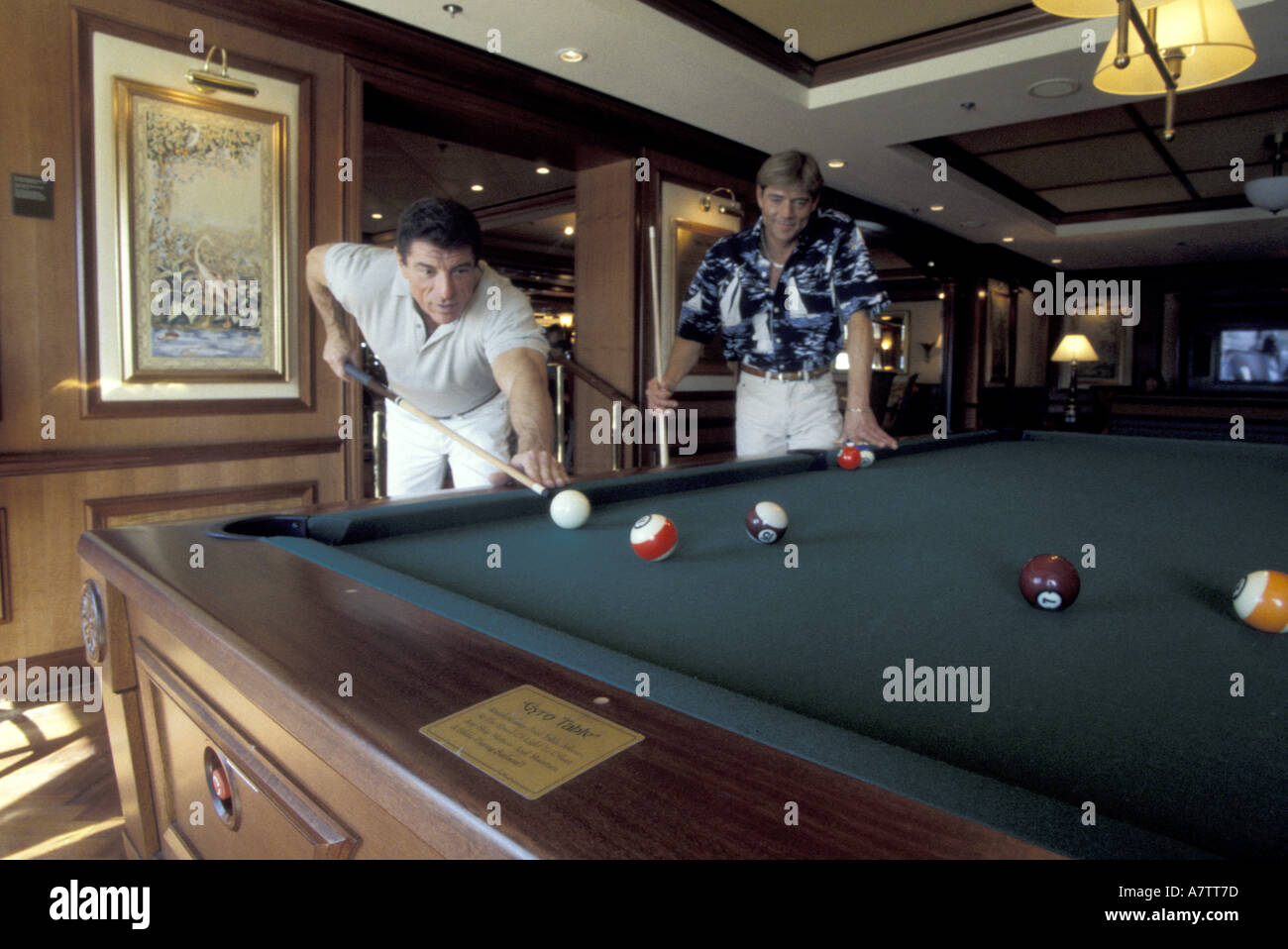Gyroscopestabalized Pool Table Aboard RCL Radiance Of The Seas - Cruise ship pool table