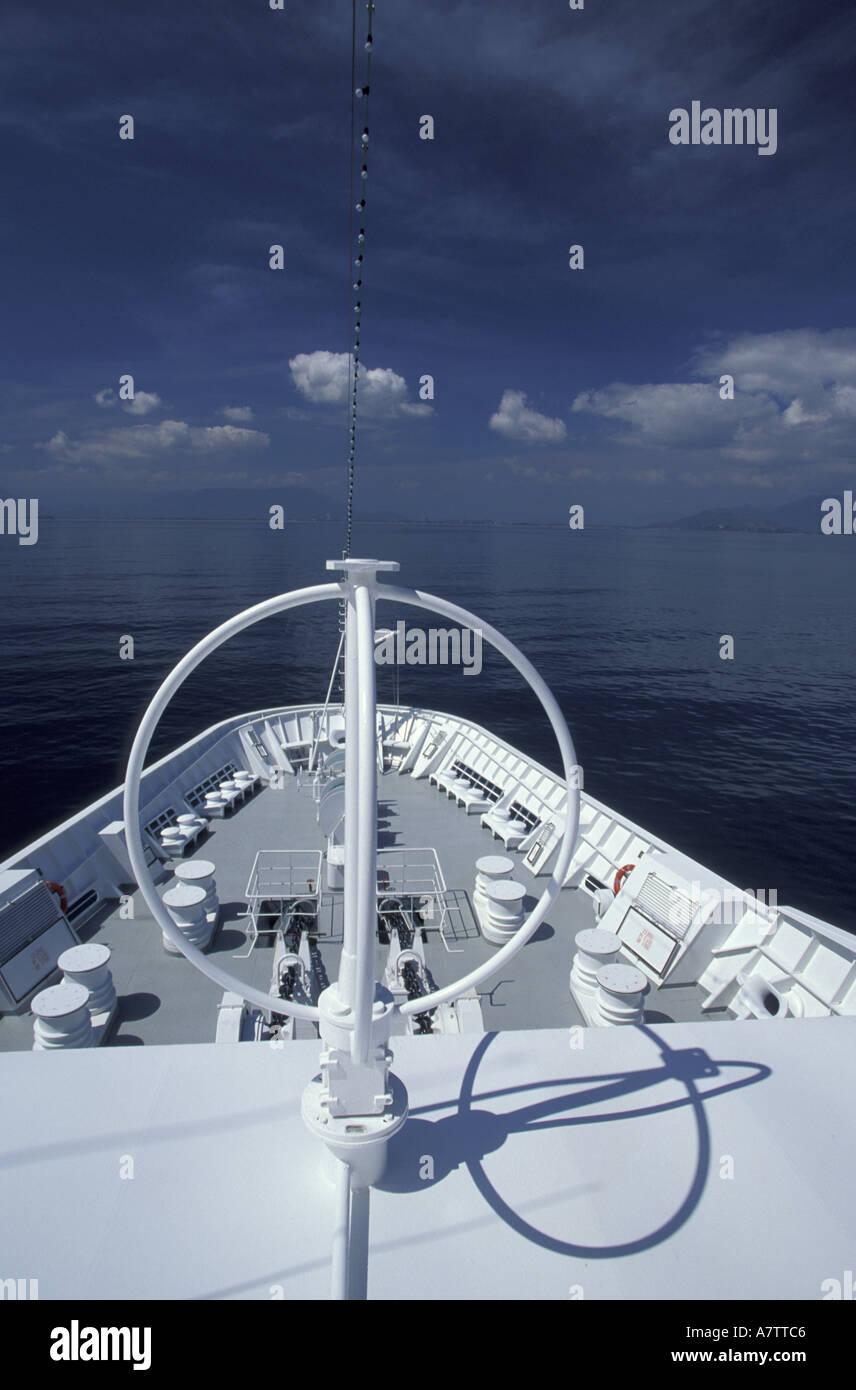 Asia, Vietnam. M.V. Minerva in China Sea. Cruising - Stock Image