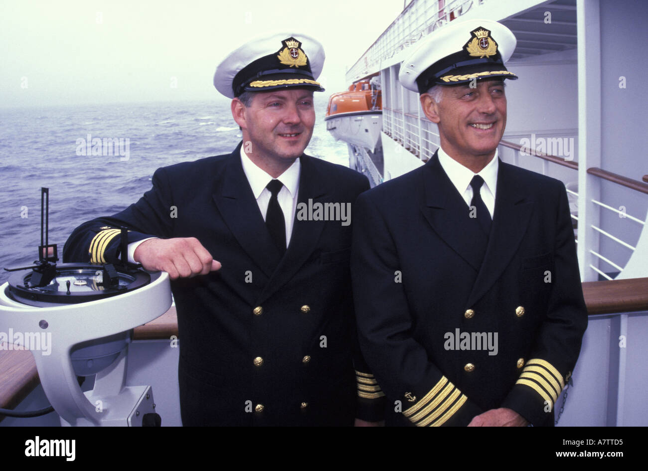 Ship's captains, M.V. Minerva. Cruising (MR) - Stock Image