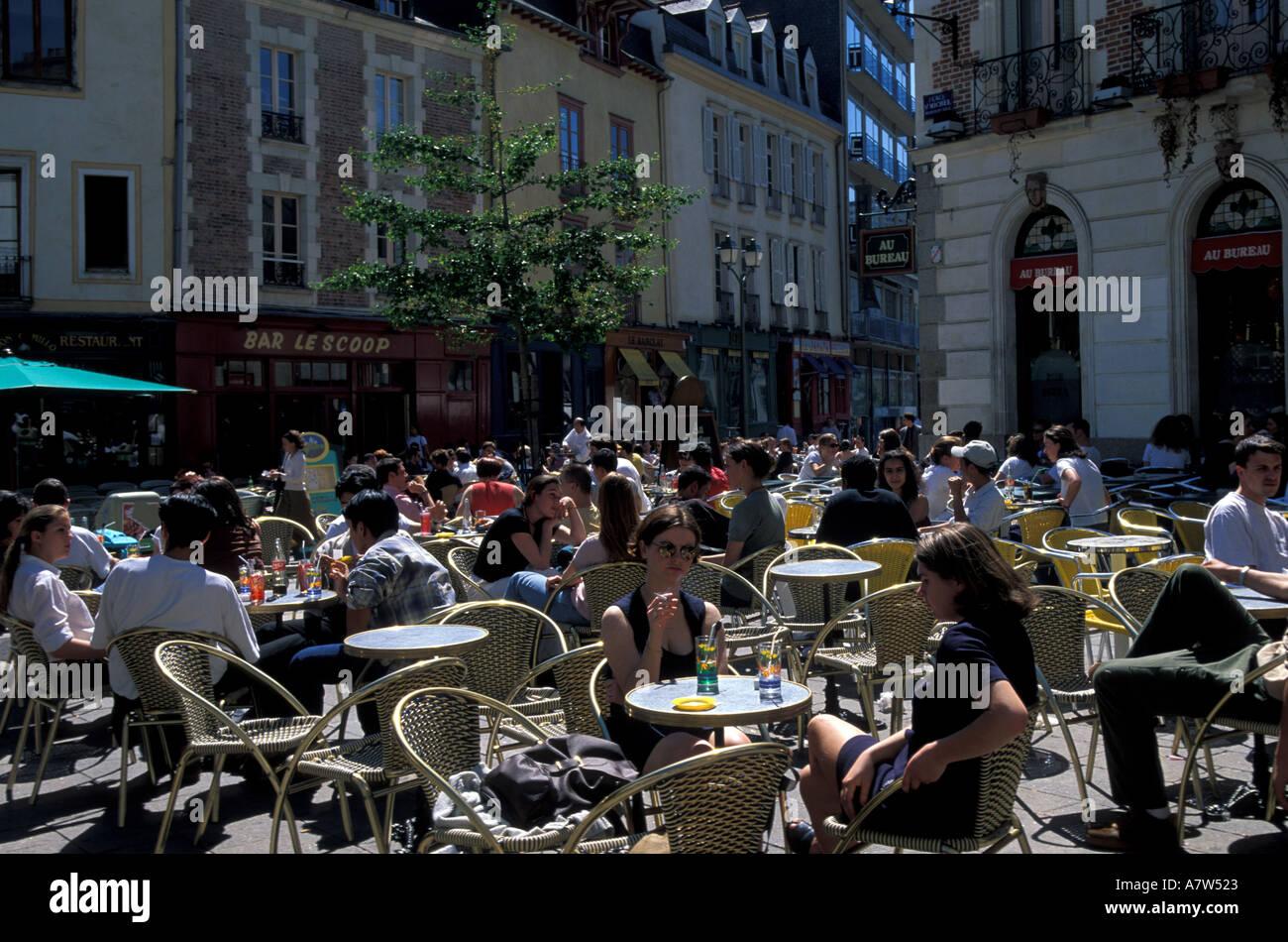 France rennes place saint michel stock photo alamy