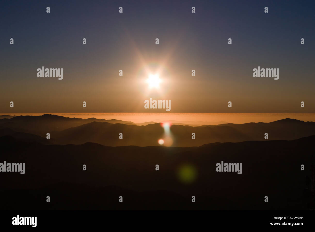 Sunset from Cerro Tololo Stock Photo