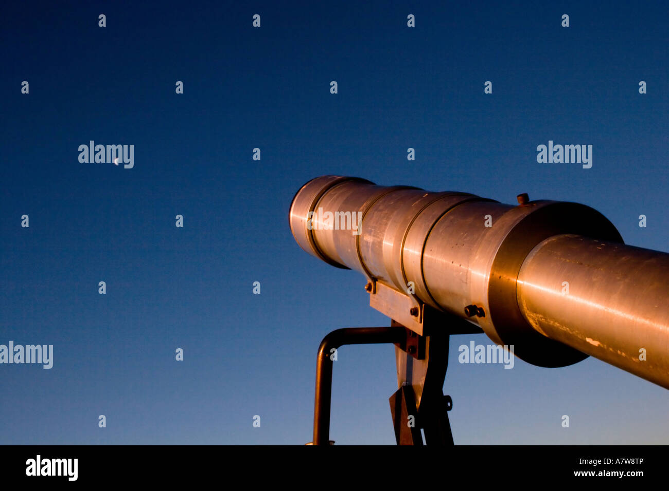 Telescopes at the top of the world Stock Photo